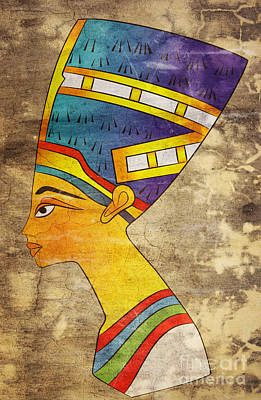 Egyptian Mixed Media - Queen Of Ancient Egypt by Michal Boubin