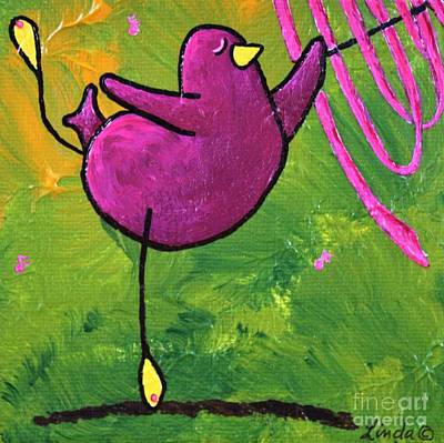 Limbbirds Painting - Queen Of Gymnastics by LimbBirds Whimsical Birds