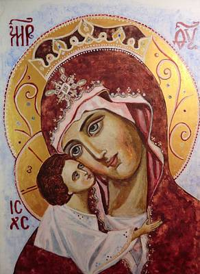 Queen Of Heaven Print by Olga Dytyniak