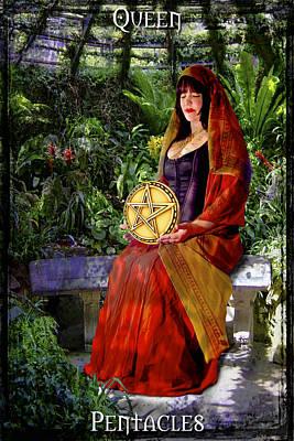 Queen Of Pentacles Print by Tammy Wetzel