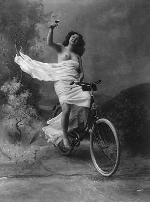 Suggestive Photograph - Queen Of The Wheel by Vintage Velo