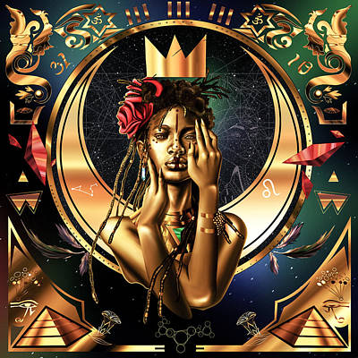 Painting - Queen Willow Illustration Of Gold by Kenal Louis
