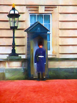 Buckingham Palace Painting - Queens Guard by Sharon Lisa Clarke