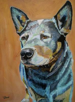 Cattle Dog Painting - Queensland Heeler by Kellie Straw