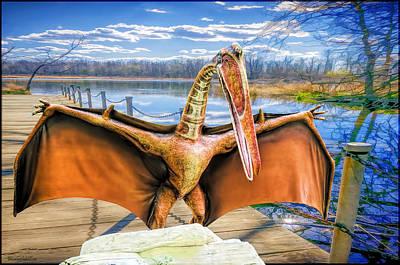 Lizard Photograph - Quetzalcoatlus Dinosaur by LeeAnn McLaneGoetz McLaneGoetzStudioLLCcom