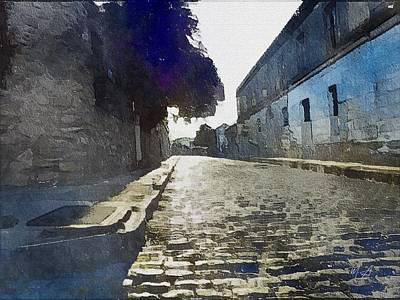 Quiet Cobbled Street Print by Mark Taylor