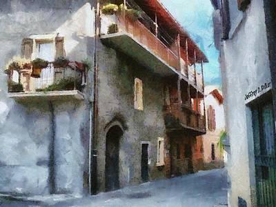 Jeff Digital Art - Quiet In Almenno San Salvatore by Jeff Kolker