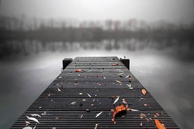 Pier Photograph - Quiet Lake by Marc Huebner