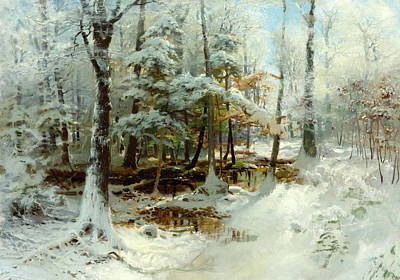 William Bliss Baker Painting - Quiet Winter Afternoon by William Bliss Baker