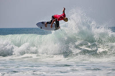 Quiksilver Pro France II Print by Thierry Bouriat