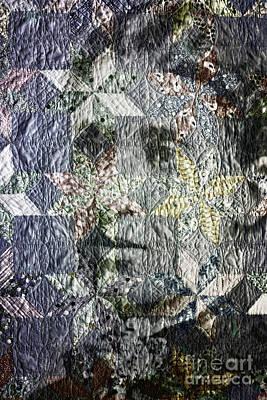 Homemade Quilts Photograph - Quilt Portrait by Jean OKeeffe Macro Abundance Art