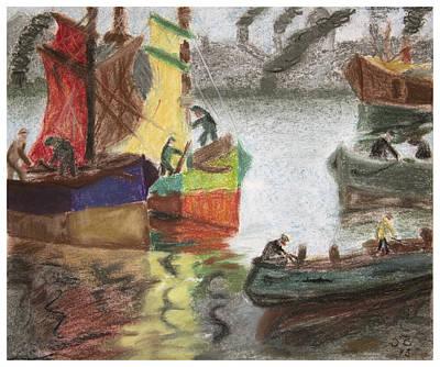 Boat Painting - La Boca Caminito by Silvia Bruno