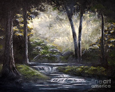 Quite Forest Stream Original by Angelina Cornidez