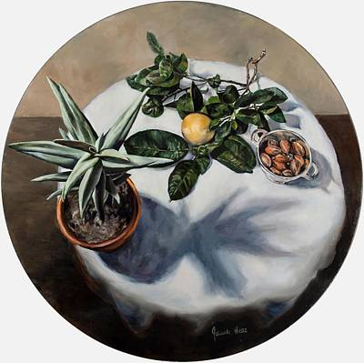 Quiver Tree, Grapefruit And Nuts Original by Jolante Hesse
