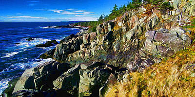 Coastal Maine Photograph - Quoddy Head Ledge by Bill Caldwell -        ABeautifulSky Photography