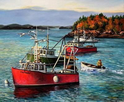 Quoddy Tide Original by Eileen Patten Oliver