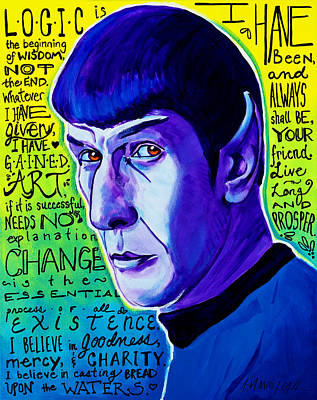 Quotable - Spock Original by Alicia VanNoy Call
