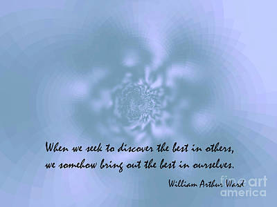 Dialog Digital Art - Quote Of William Arthur Ward. by Angelina Roeders