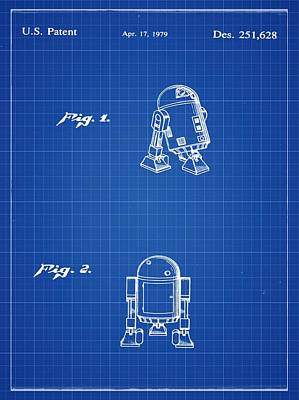 R2d2 Patent 1979 Print by Digital Reproductions