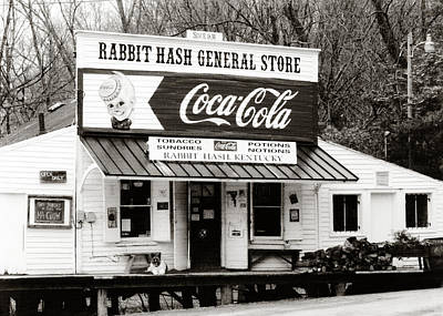 Rabbit Hash General Store- Photogaphy By Linda Woods Print by Linda Woods