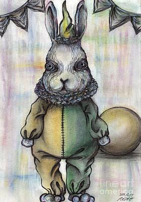 Rabbit Pierrot Print by Akiko Kobayashi