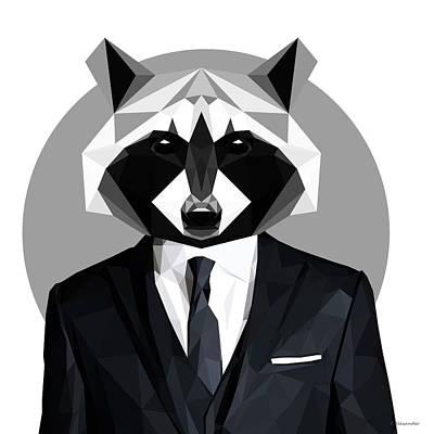 Raccoon Digital Art - Raccoon by Filip Aleksandrov