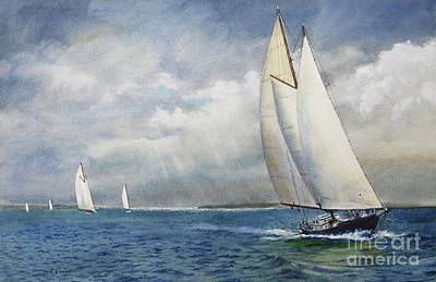 Race Against Weather Print by Karol Wyckoff