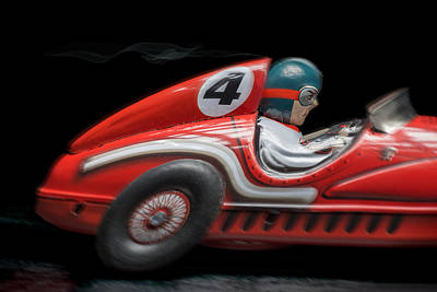 Race Car Print by Rudy Umans