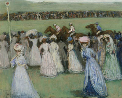 Race Course  Print by Charles Conder