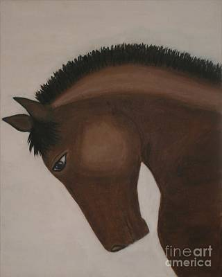 Race Horse Saturday Night Special Print by Catalina Walker