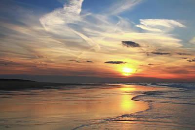 Ocean Photograph - Race Point Beach Sunset  by Roupen  Baker