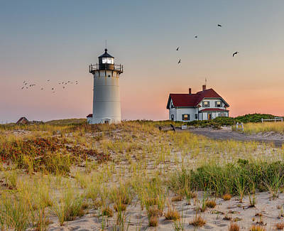 Race Point Light Cape Cod Print by Bill Wakeley