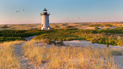Race Point Light Sand Dunes Print by Bill Wakeley