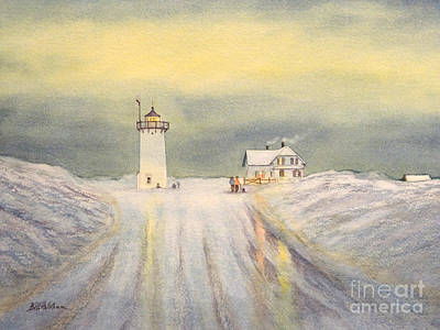 United States Coast Guard Painting - Race Point Lighthouse Provincetown by Bill Holkham