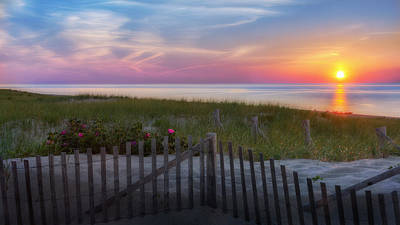 Race Point Sunset Cape Cod 2015 Print by Bill Wakeley