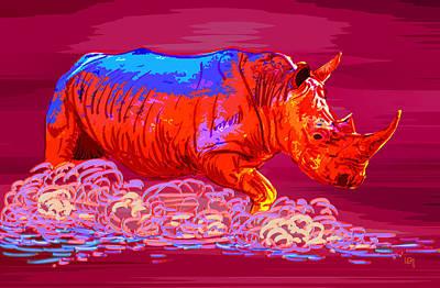 Race Rhinoceros Original by Lawrence O'Toole