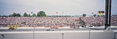 Indy Car Photograph - Racecars On A Motor Racing Track by Panoramic Images