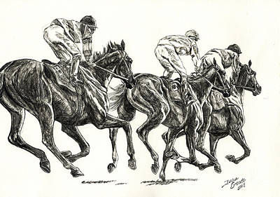 Seabiscuit Drawing - Races by Jana Goode