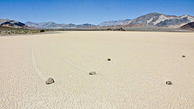 Dry Lake Racing Photograph - Racetrack Playa Death Valley 1 by Backcountry Explorers