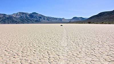 Dry Lake Racing Photograph - Racetrack Playa Death Valley 2 by Backcountry Explorers