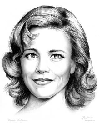 Drawing - Rachel Mcadams by Greg Joens