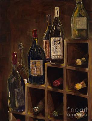 Rack Of Wine Print by Jodi Monahan
