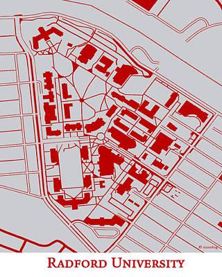 Radford University Campus Print by Spencer Hall
