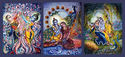 Radha Krishna Cosmic Leela Print by Harsh Malik