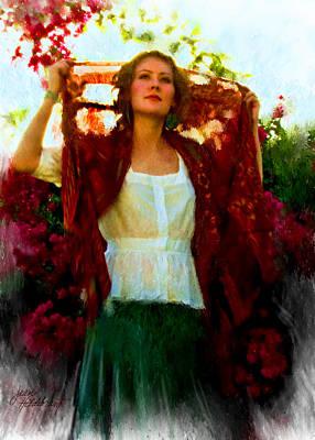 Radiant In Red Original by Jean Hildebrant