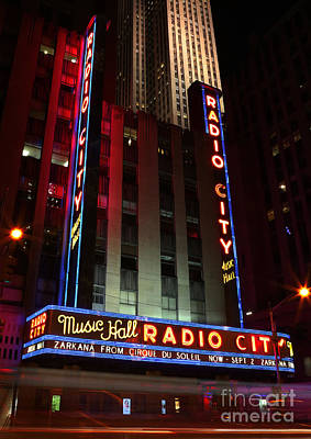 Outdoor Theater Photograph - Radio City Music Hall Cirque Du Soleil Zarkana by Lee Dos Santos