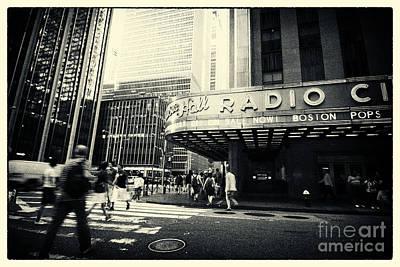 Vintage Photograph - Radio City Music Hall Manhattan New York City by Sabine Jacobs