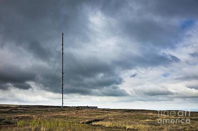 Radio Tower In Field Print by Jon Boyes