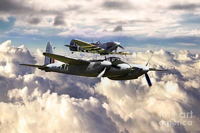 Spitfire Digital Art - Raf Firepower by J Biggadike