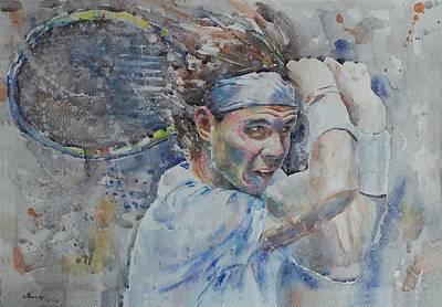 Rafa Nadal - Portrait 4 Original by Baresh Kebar - Kibar